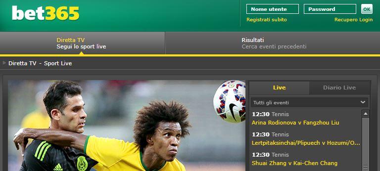 La diretta streaming bet365 di calcio basket e tennis quotebet365 - La finestra di fronte streaming ...